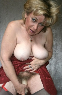 Caro. Caro is a mature grandmother from Germany with big suckable tits and a natural hairy pussy